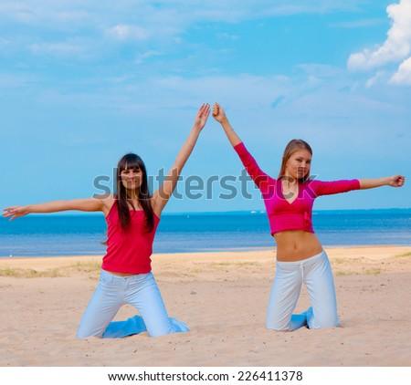 Joy Fitness Female  - stock photo