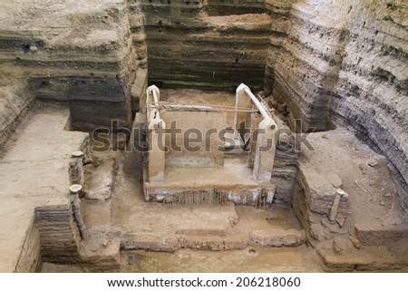 Joya de Ceren called the Pompei of America. El Salvador, Central America - stock photo