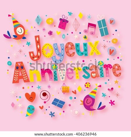 how to say happy birthday in french language