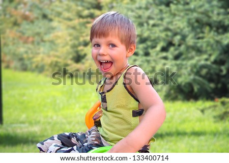 Joyful child - stock photo