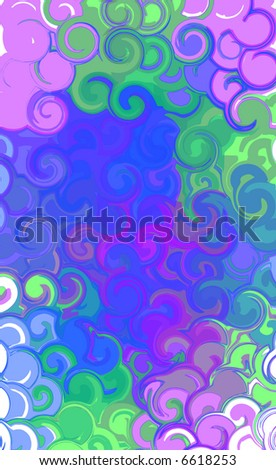 JPEG Colorful Curly Texture Background - stock photo