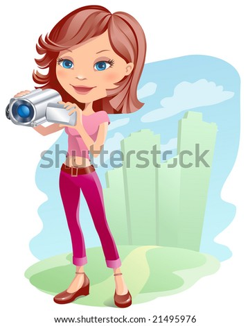 jpeg girl with camera