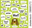 Jpeg Various Phrases in comic bubbles - stock photo