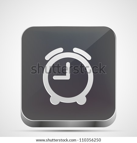 Jpeg version. alarm clock app icon - stock photo