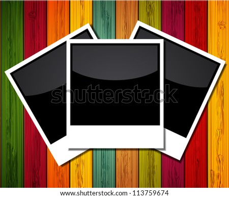 Jpeg version.  photo on colorful wooden background - stock photo