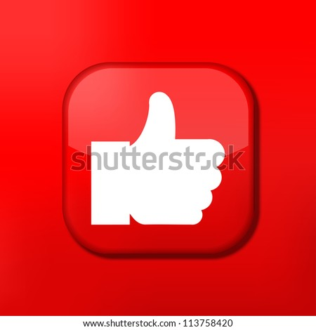Jpeg version.   red like icon - stock photo