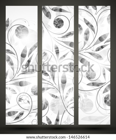 jpg, banner with floral pattern - stock photo