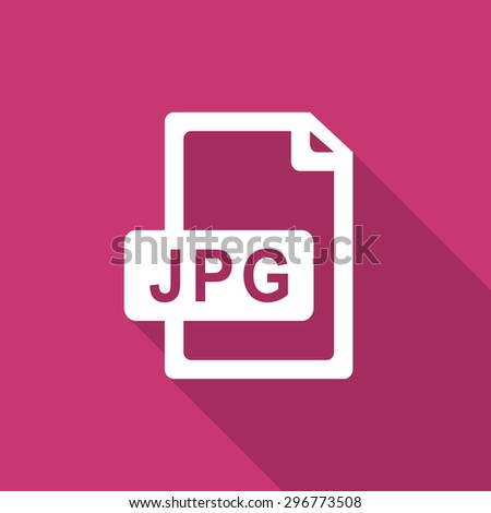 jpg file flat design modern icon with long shadow for web and mobile app 