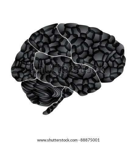 jpg, human brain, dark thoughts, abstract background