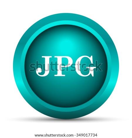 JPG icon. Internet button on white background.  - stock photo