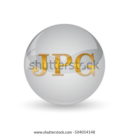 JPG icon. Internet button on white background.
