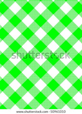 Jpg.  Woven green and white gingham fabric.