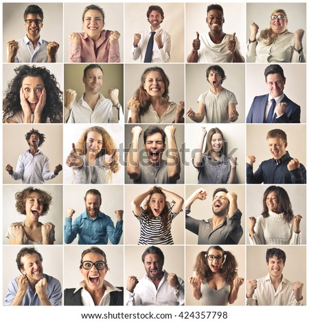Jubilant people - stock photo
