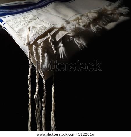 Judaica symbol - Prayer Shawl - Tallit - stock photo