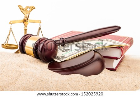 judge gavel  - stock photo