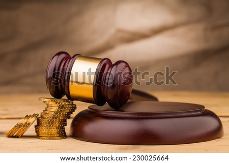 judge gavel closeup