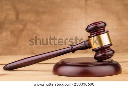judge gavel closeup - stock photo