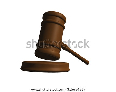 Judge Gavel From Low Angle. Justice And Legal Concept