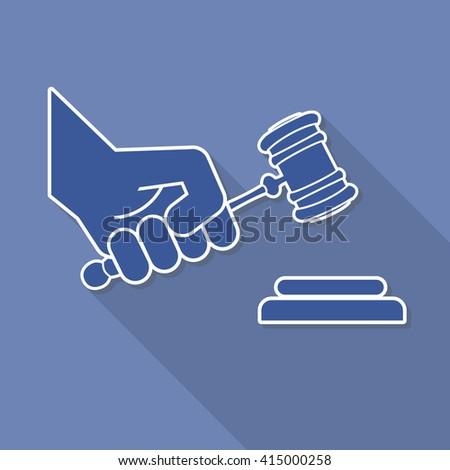 judge gavel in hand symbo - stock photo