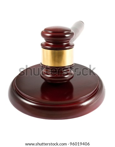 Judge gavel isolated on white background - stock photo
