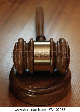 judge gavel on wooden background.Close up - stock photo