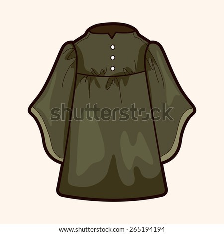 judge gowns theme elements - stock photo