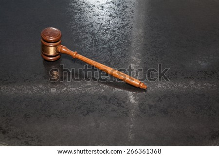 judge hammer - stock photo
