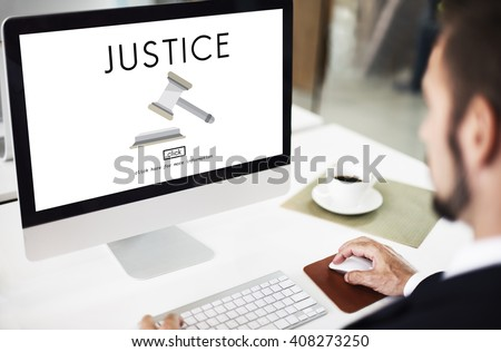 Judge Justice Judgment Legal Fairness Law Gavel Concept - stock photo
