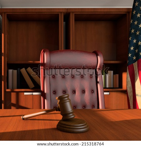 Judges office - stock photo