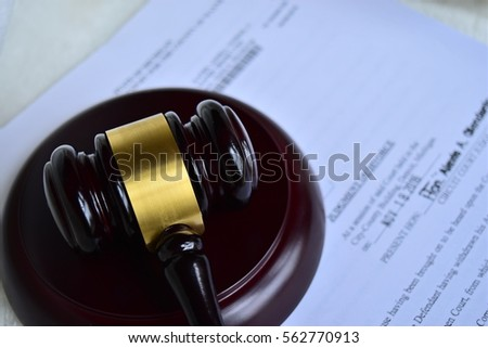judgment and gavel