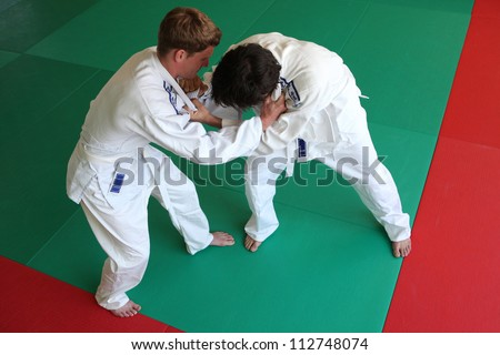 Judo fight. - stock photo