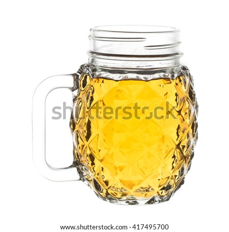 jug of alcohol isolated on white background