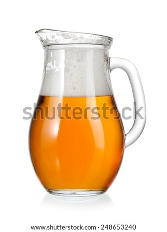Jug with beer - stock photo