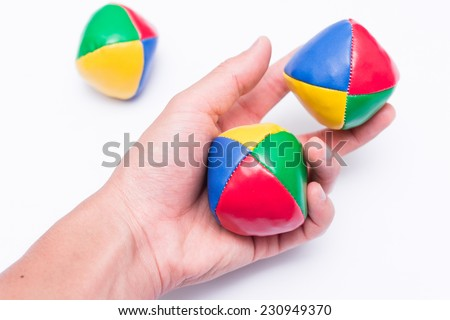 Juggling Balls In Hand - stock photo