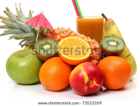 Juice and fruit