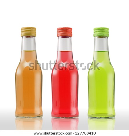 Juice bottle on white background (with clipping path) - stock photo