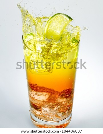 Juice in cup isolated