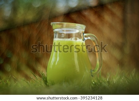 juice of the grape in a pitcher - stock photo
