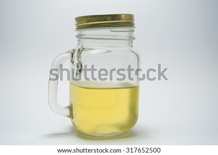 Juice on a white background