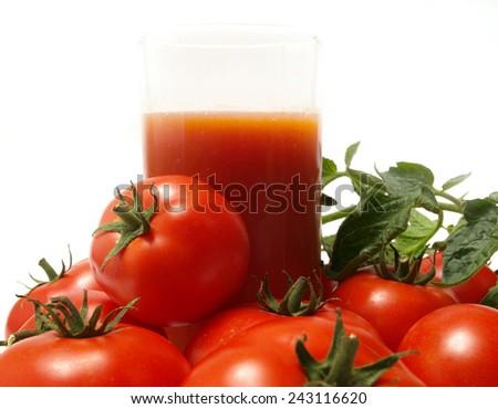 Juice tomato         - stock photo