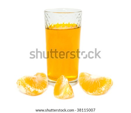 juice with the lobules of orange