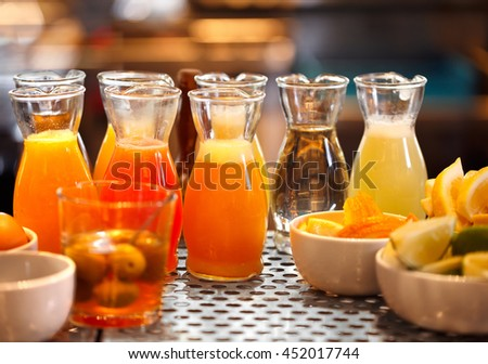Juices at a Bar