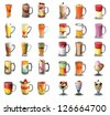 juices set - stock photo