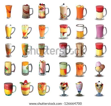 juices set - stock photo