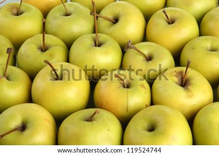 juicy apples, close up - stock photo