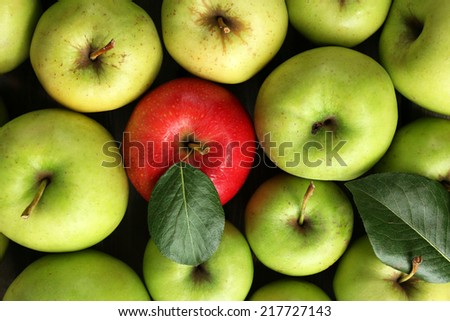 Juicy apples, close-up