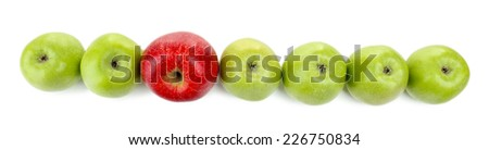 Juicy apples isolated on white - stock photo