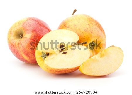 juicy apples isolated on white background - stock photo