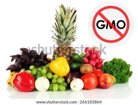 Juicy fruits and vegetables without gmo - stock photo