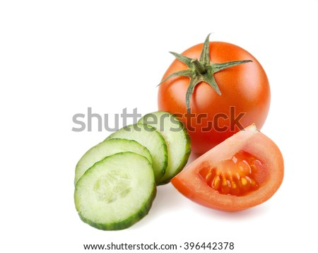 Juicy Isolated Tomato in white background